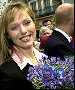 Ffion Hague with husband William in background