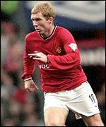 Scholes got United's only goal of the game