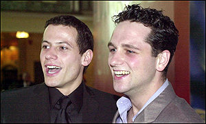 Stars Ioan Gruffudd and Matthew Rhys arriving for the premiere