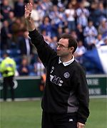Martin O'Neill salutes the Celtic fans