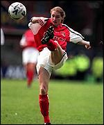 Karen Banks in action in the Women's FA Cup final