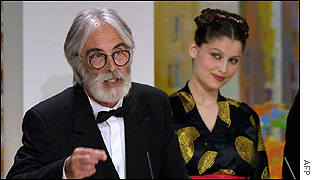 Austrian Michael Haneke won the Grand Jury Prize for The Piano Teacher