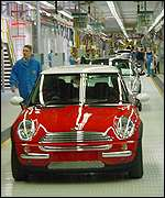 BMW's Mini on the assembly line in Oxford