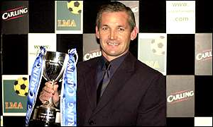 George Burley with his award