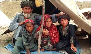 Afghan refugee family