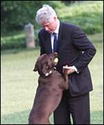 Bill Clinton and Buddy