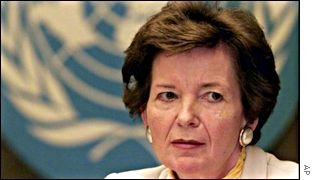 UN High Commissioner for Human Rights Mary Robinson