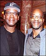 Ex-athletes Bob Beamon and Ed Moses