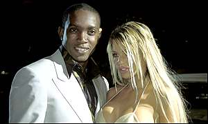 Man Utd's Dwight Yorke in Monte Carlo with girlfriend Jordan