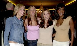 Natalie Appleton, Nicole Appleton, Melanie Blatt and Shaznay Lewis before the split in February 2001