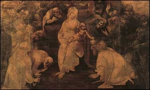 Leonardo's The Adoration Of the Magi