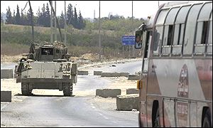 Israeli apc in Gaza strip
