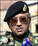 Pakistani military ruler General Musharraf