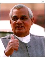 Indian PM Atal Bahari Vajpayee