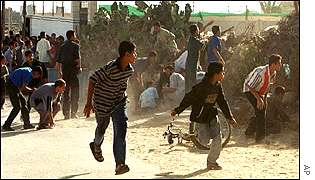 Clashes on Wednesday near the Rafah border between Gaza and Egypt in the southern Gaza Strip