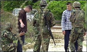 K-For troops search Albanians
