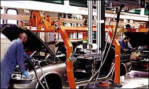 Vauxhall car production line