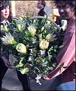 [ image: Flowers arriving at Mandela's Johannesburg home]