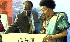 Graca Machel at signing ceremony