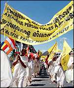 [ image: Buddhists march for peaceful elections]