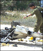 Wreckage of Lebanese plane
