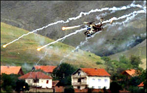 Macedonian helicopter fires rockets over Vakcince