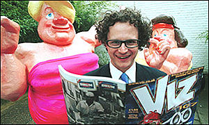James Brown meets some of Viz's characters