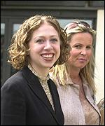 Chelsea Clinton and Claudia Rothermere