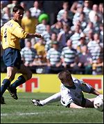 Jackie McNamara slots home the opener