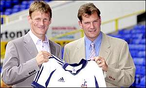 Teddy Sheringham and Glenn Hoddle