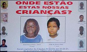 Poster of missing children