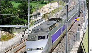 French railways TGV (Train a Grande Vitesse)