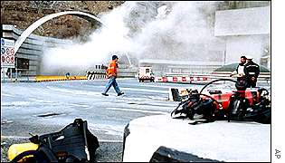 The Mont Blanc tunnel fire between Courmayeur and Chamonix in March 1999