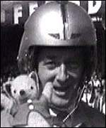 Donald Campbell with bear mascot