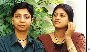 Lesbian couple in India