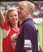 Amanda Holden and Les Dennis