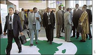 Participants meet for the annual conference of the African Development Bank