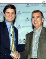 Steve Case and Gerald Levin sealed the deal for AOL and Time Warner