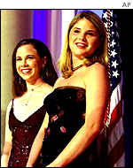 Twins Barbara and Jenna Bush