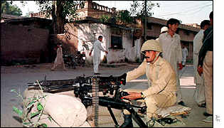 Pakistani soldier following 1999 military coup