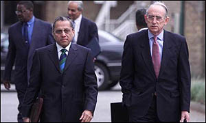Jagmohan Dalmiya with Malcom Gray, his ICC successor