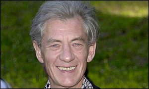 Sir Ian McKellen, who plays Gandalf in the film