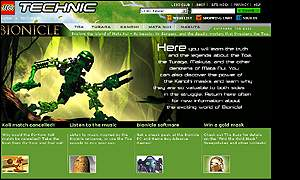 Bionicle web page, which has angered Maoris