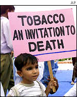 Anti-smoking protest