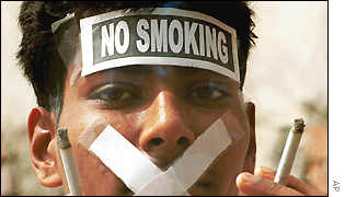 Indian protest against smoking