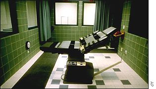 Execution chamber at Terre Haute prison, Indiana