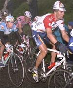 Miguel Indurain on his way to losing the 1996 Tour