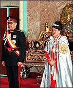 King Birendra and Queen Aishworya of Nepal