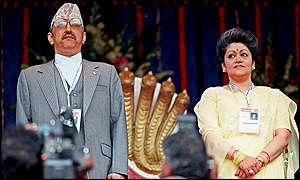 Queen Aishwarya of Nepal BBC NEWS South Asia Aishwarya Nepal39s forceful queen
