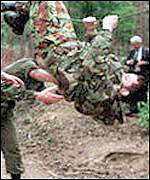 Recruits on Royal Marines course
